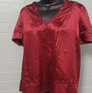 Marc Jacobs silk detailed neck blouse 10